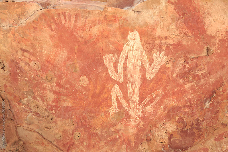 Aboriginal cave art. Wyndham. Western Australia. by John White for Stocksy United