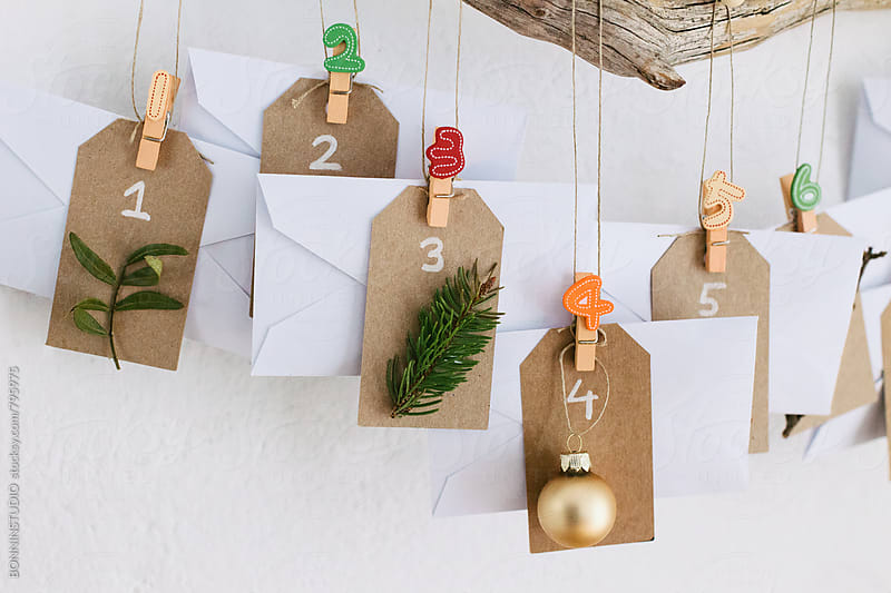 Diy Christmas advent calendar. by BONNINSTUDIO for Stocksy United
