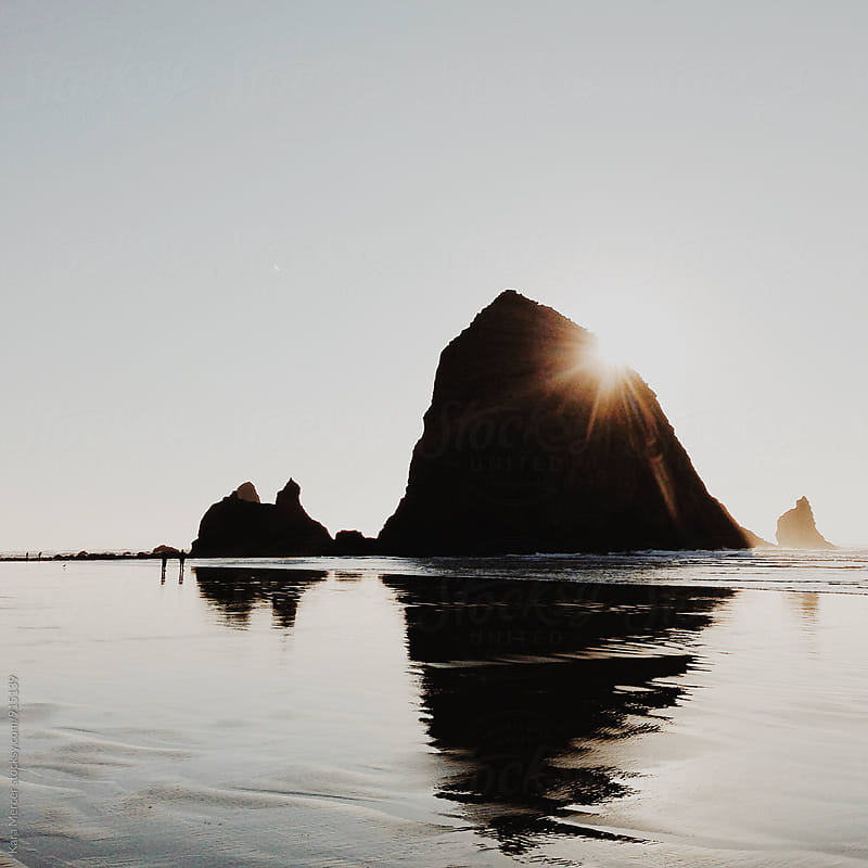 Canon Beach Reflection by Kara Mercer for Stocksy United