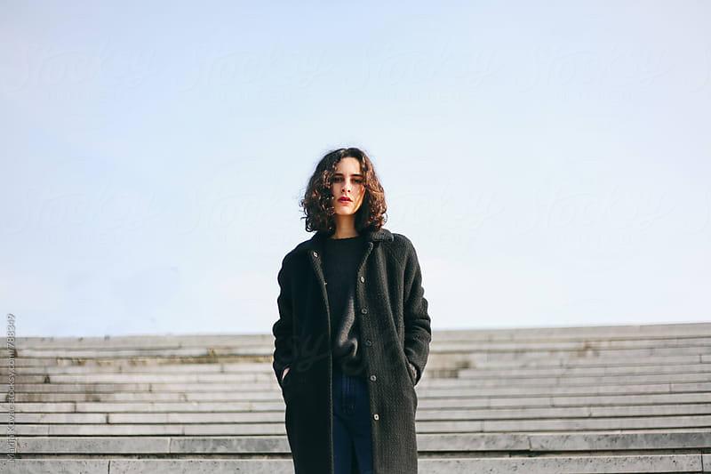 Portrait of a beautiful woman outdoor by Marija Kovac for Stocksy United