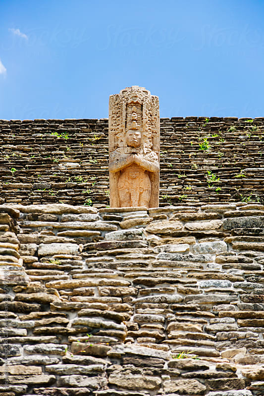 Ancient pre-columbian stela ruins by Alejandro Moreno de Carlos for Stocksy United
