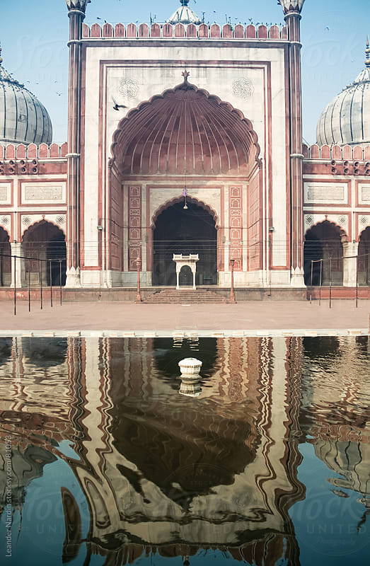 Mosque in India - Jama Masjid by Leander Nardin for Stocksy United