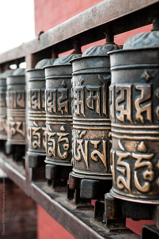 Pray wheels, Monkey Temple (Swayambhunath Stupa), Kathmandu Nepal. by Thomas Pickard Photography Ltd. for Stocksy United