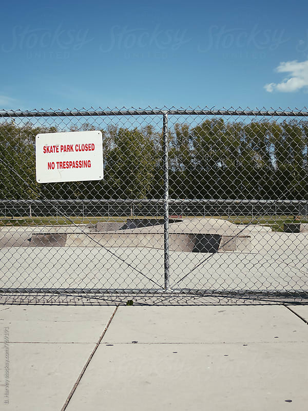 Skate Park Closed No Tresspassing by B. Harvey for Stocksy United