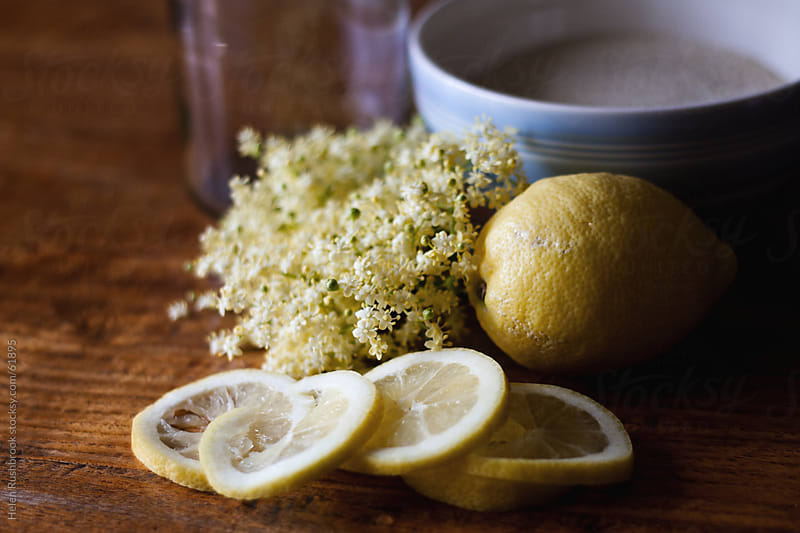 Ingredients of Elderflower Cordial by Helen Rushbrook for Stocksy United