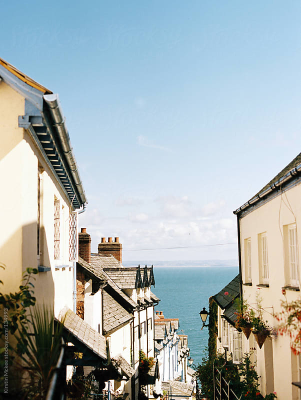 View of the sea from Clovelly, Devon. by Kirstin Mckee for Stocksy United