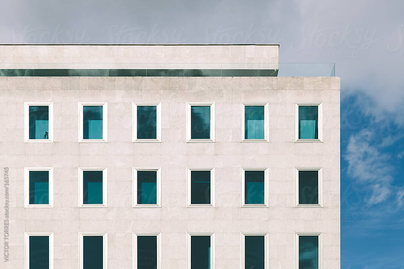 Windows Pattern in a Modern Building Facade by VICTOR TORRES for Stocksy United