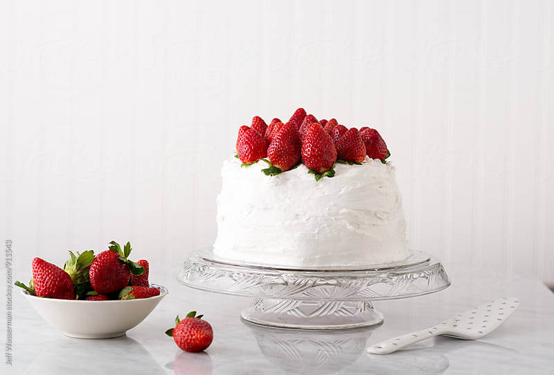 Vanilla Stawberry Cake by Jeff Wasserman for Stocksy United
