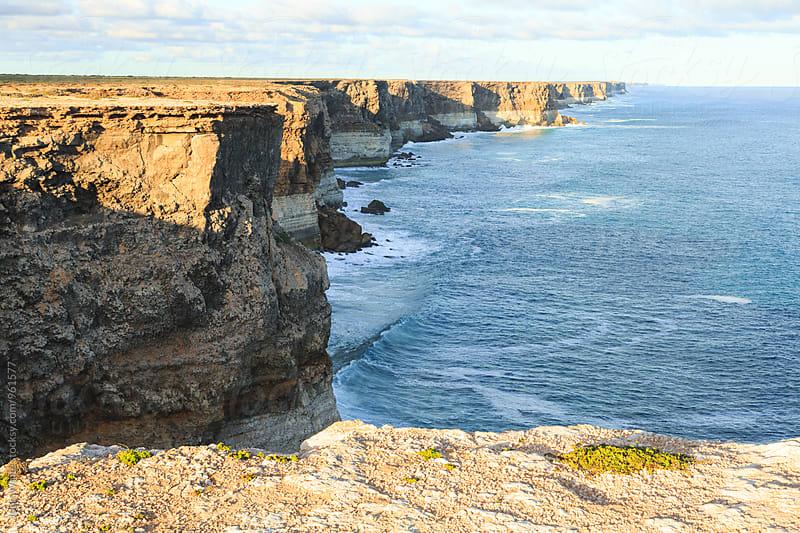 Cliffs on the edge of the Nullarbor Plain. South Australia by John White for Stocksy United