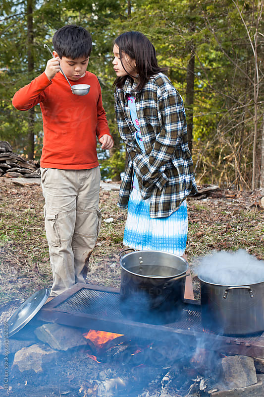 Outdoor Cooking by Jill Chen for Stocksy United