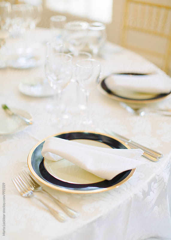 Formal place setting by Marta Locklear for Stocksy United