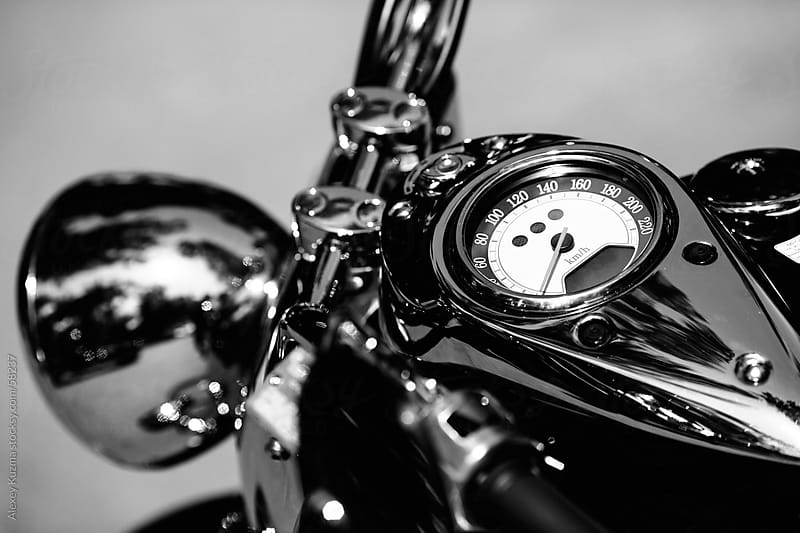 motorcycle speedometer by Alexey Kuzma for Stocksy United