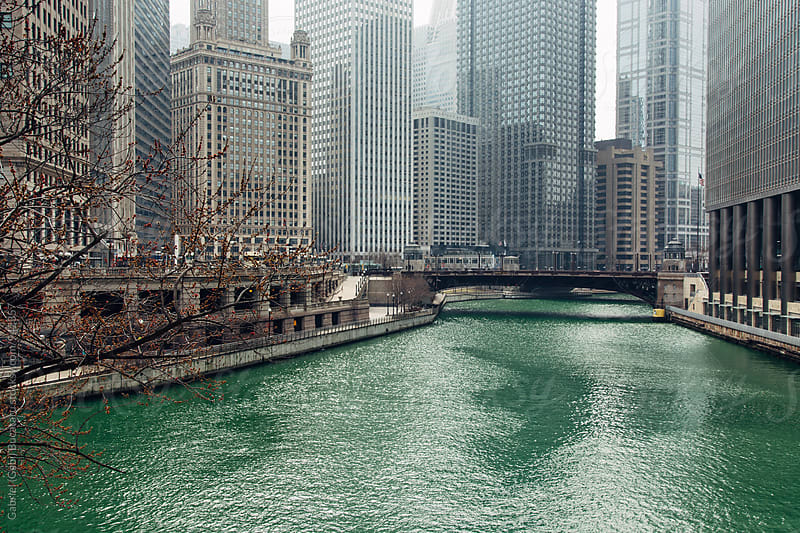 The Chicago River in downtown Chicago by Gabriel (Gabi) Bucataru for Stocksy United