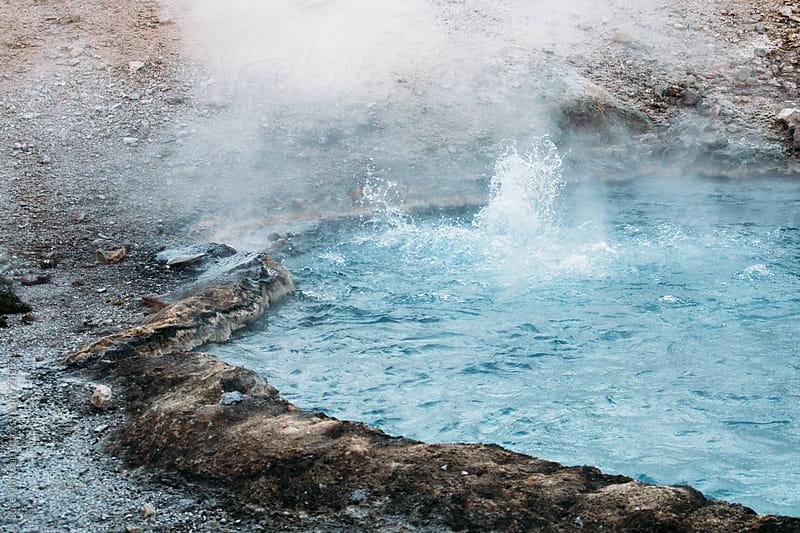 Blue Bubbling Hot Spring by Luke Mattson for Stocksy United