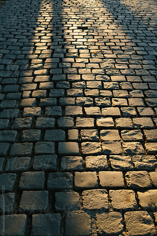 Cobblestones by the Seine by Simonfocus for Stocksy United