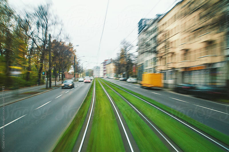 Tram Speeding in Berlin by Good Vibrations Images for Stocksy United