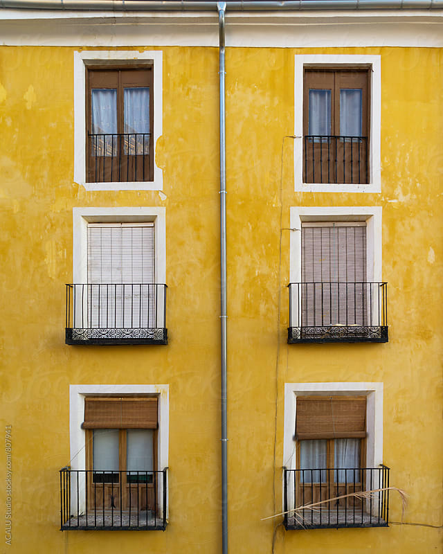 Colorful mediterranean facade by ACALU Studio for Stocksy United