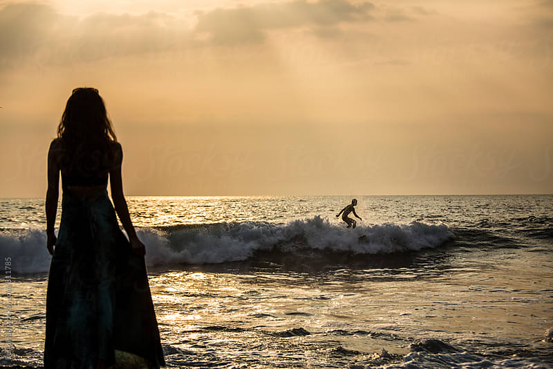 Surfing in Bali by Felix Hug for Stocksy United
