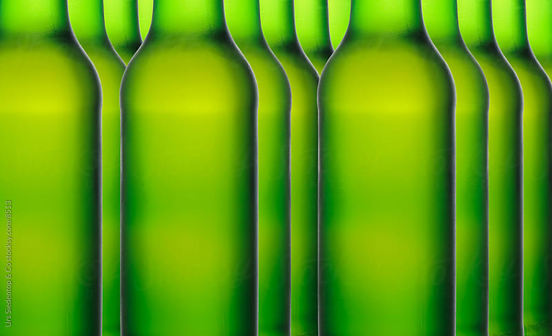 Green Beer Bottles by Urs Siedentop & Co for Stocksy United