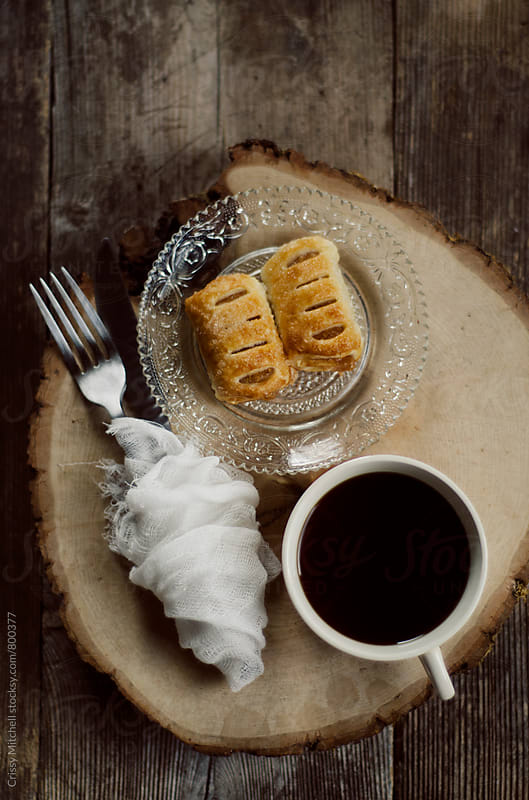mini apple pie and coffee by Crissy Mitchell for Stocksy United