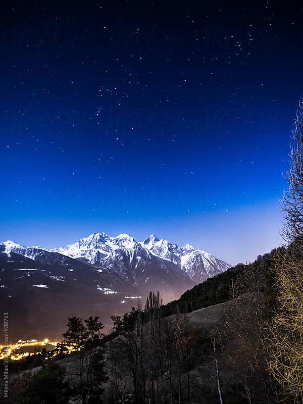 Night sky in the Alps  by Milena Milani for Stocksy United