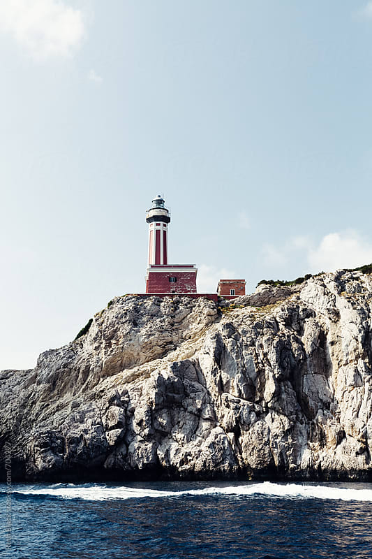 Lighthouse on Capri, Southern Italy by Ruth Black for Stocksy United
