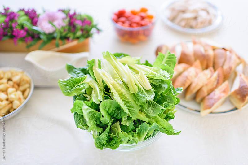 Breakfast buffet of green vegetable for salad by Lawren Lu for Stocksy United