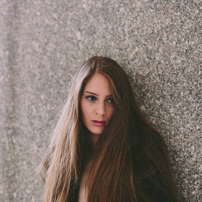 Solitary woman portrait by Good Vibrations Images for Stocksy United
