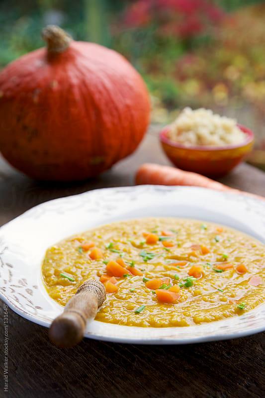 Pumpkin Parsnip Soup by Harald Walker for Stocksy United