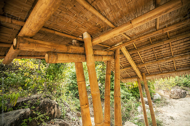 Natural Building - Bamboo Carpark Detail by VISUALSPECTRUM for Stocksy United