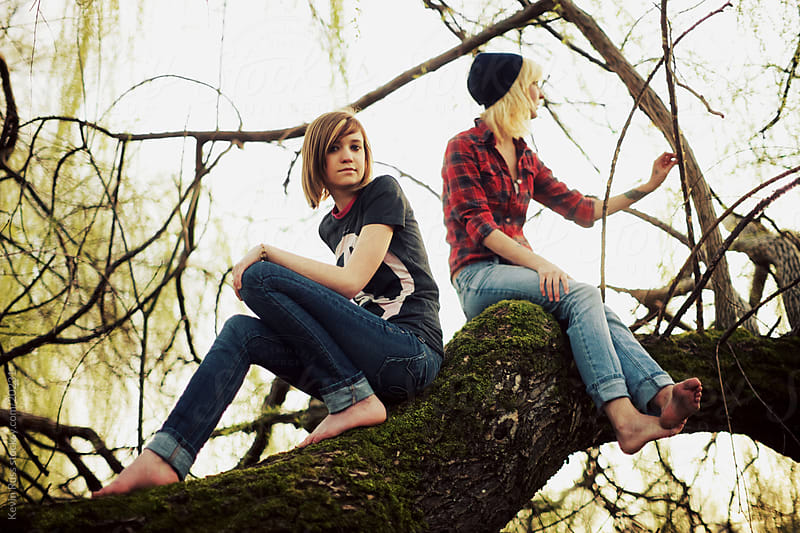 Tree Sitting Friends by Kevin Russ for Stocksy United