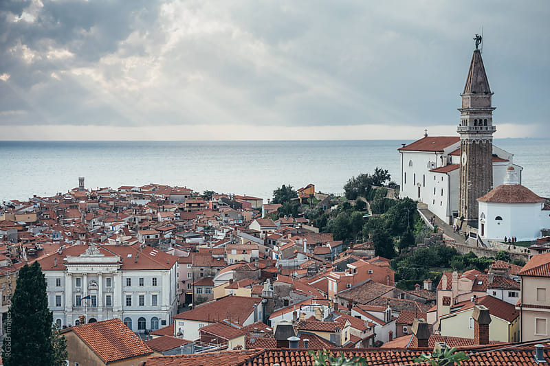 City of Piran in Slovenia  by RG&B Images for Stocksy United