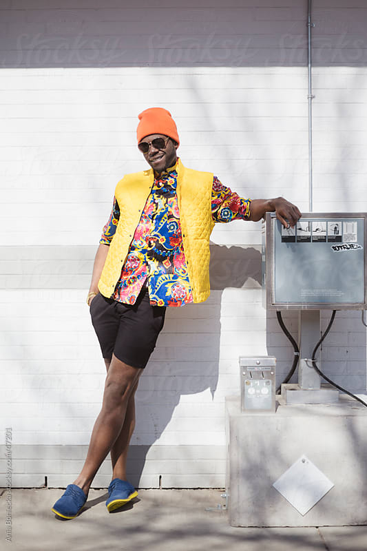 Style: Bright colors on a  stylish young man by Ania Boniecka for Stocksy United