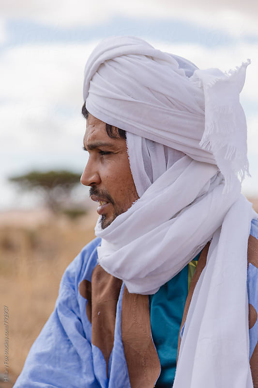 A Moroccan Man by Hillary Fox for Stocksy United