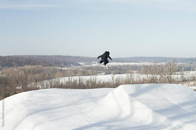 Snowboarding in Ohio by Chris Martin for Stocksy United