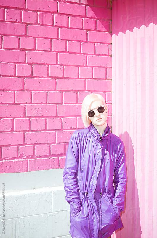 spring pastel portrait by Alexey Kuzma for Stocksy United