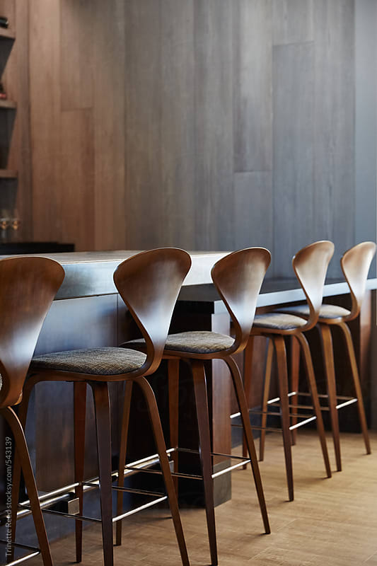 Bar and lounge of luxury upscale restaurant  by Trinette Reed for Stocksy United