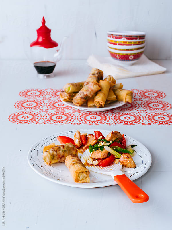 Chinese food by J.R. PHOTOGRAPHY for Stocksy United