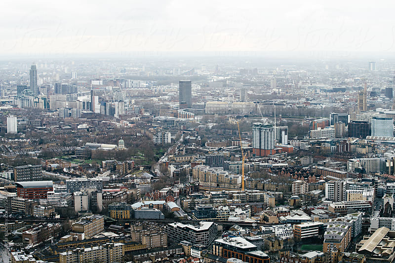 Grey London Skyline by Agencia for Stocksy United