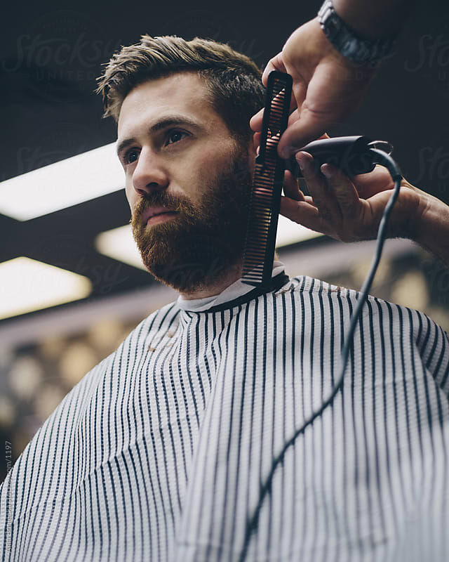 Beard trim by Ania Boniecka for Stocksy United