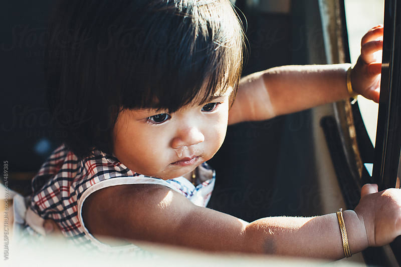 Small Burmese Baby Girl by VISUALSPECTRUM for Stocksy United