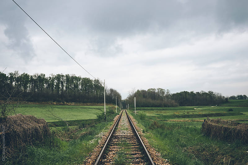 Railway in the nature by GIC for Stocksy United