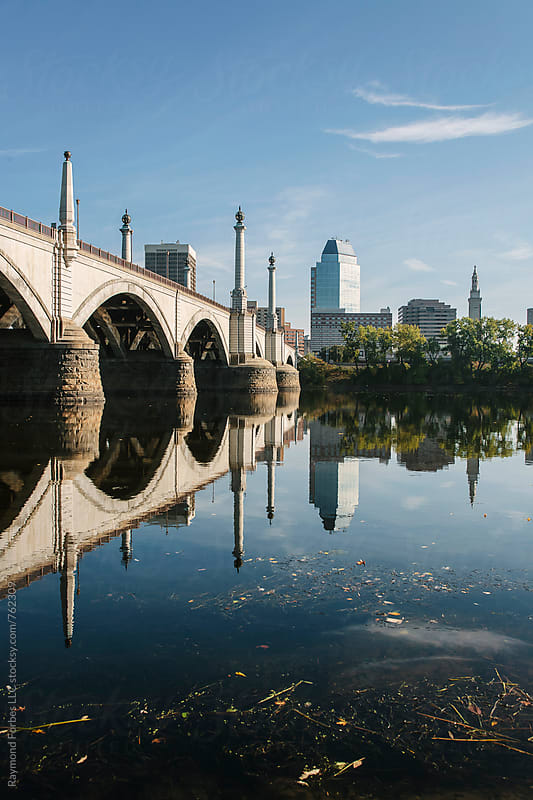 Memorial Bridge in Springfield, Massachusetts by Raymond Forbes LLC for Stocksy United