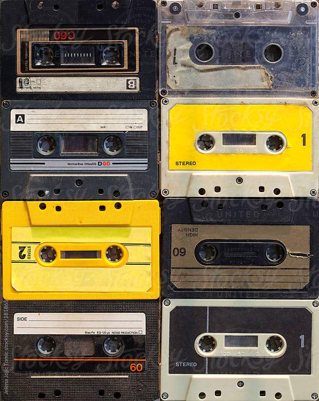Cassette tape background by Jelena Jojic Tomic for Stocksy United