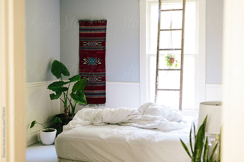 Simple bedroom by Simone Anne for Stocksy United