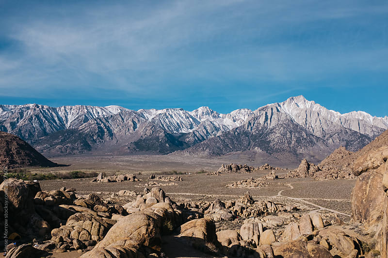 mountainous landscapes of eastern sierra nevadas  by Jesse Morrow for Stocksy United