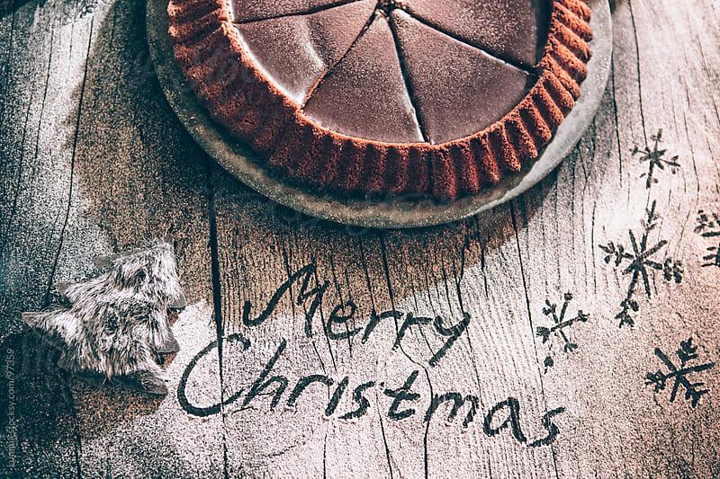 Christmas Chocolate Cake by Lumina for Stocksy United