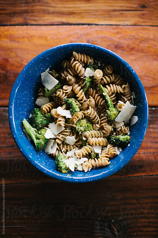 Healthy Pesto Noodle Dish by Kristine Weilert for Stocksy United