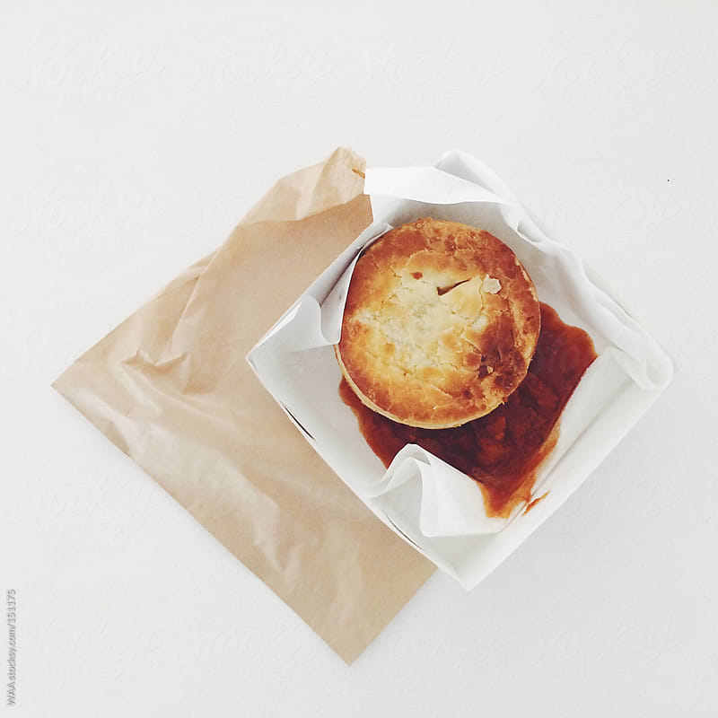 Steak Pie and Relish in Brown Paper Bag by WAA for Stocksy United
