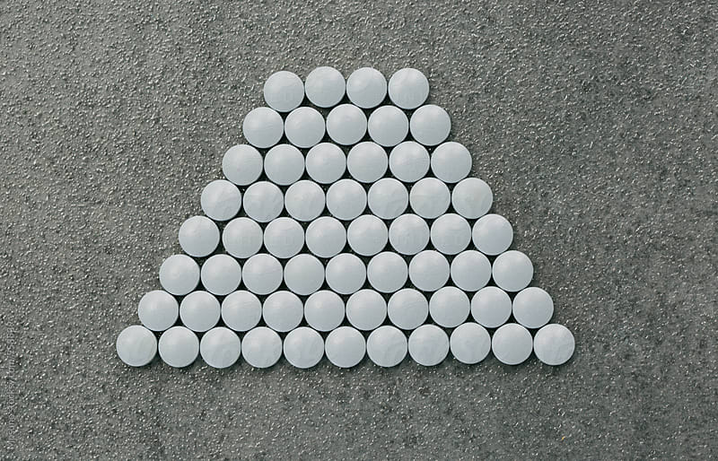 Grey Pills Arranged by Mosuno for Stocksy United